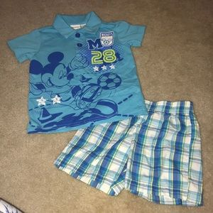 Disney Boys Mickey Outfit worn once
